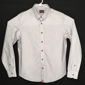 UNTUCKit long sleeve button up casual shirt size L